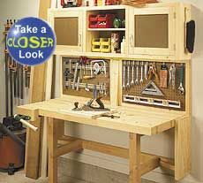 Workbench Plan - Build a Fold-Down Bench