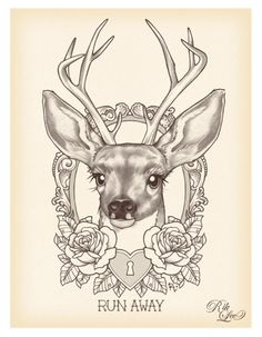 deer tattoo would love this on my opposite arm as a cover up