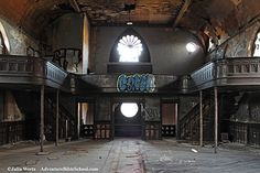 The abandoned First German Reformed Church is located along Freeman Avenue in Cincinnati, Ohio. It was slated for demolition several years ago when a new act was passed that saved a lot of Cincinnati's historic buildings.