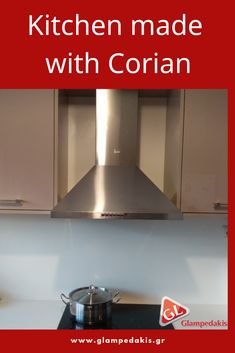#Kitchen made with #corian in a #house at #Crete #Greece