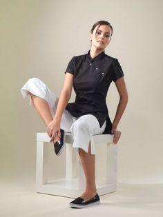 Thai spa therapist uniform 04 thai massage pinterest for Spa uniform china