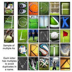 Soccer Name Art Letters