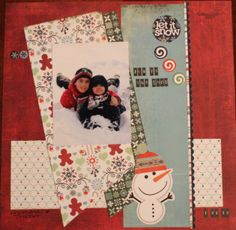 Fun In the Snow - Scrapbook.com  This handmade layout features the Nordic Holiday Collection from Basic Grey.