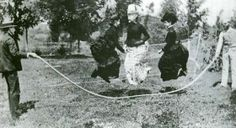 c. 1900: Jumping rope