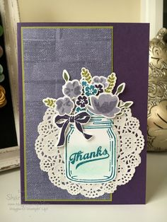 Stampin' Up!'s Jar of Love for the Colour Your World Blog Hop.  Created by Sharlene Meyer from www.magpiecreates.com #stampinup #magpiecreates