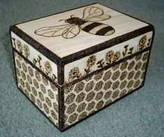 """Bumbly Bee"" Wooden Decorative Box by woodtattoos, via Flickr"