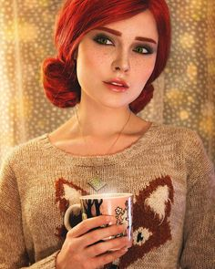 Triss with a cup of tea http://ift.tt/2hTPybf