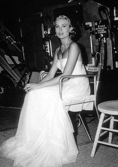Grace Kelly waiting for her cue.