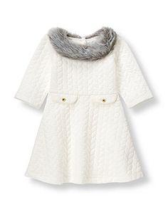 Faux Fur Collar Dress