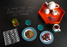 The morning routine of Jonathan Adler and Simon Doonan - - the ultimate freedom (and charm) is in living precisely the way you want and enjoying your eccentricities fully. : )  http://www.bonappetit.com/blogsandforums/blogs/badaily/2012/11/jonathan-adler-breakfast.html#