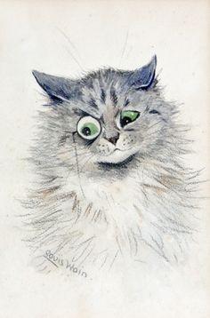 MONOCLED CAT - LOUIS WAIN