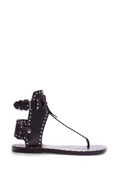Pomponius Johanna Shoes In Black by Isabel Marant for Preorder on Moda Operandi