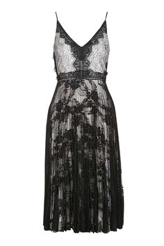 Mono Lace Pleated Midi Dress - New In This Week - New In - Topshop