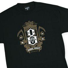 REBEL8 - 'Grim' [(Black) T-Shirt]