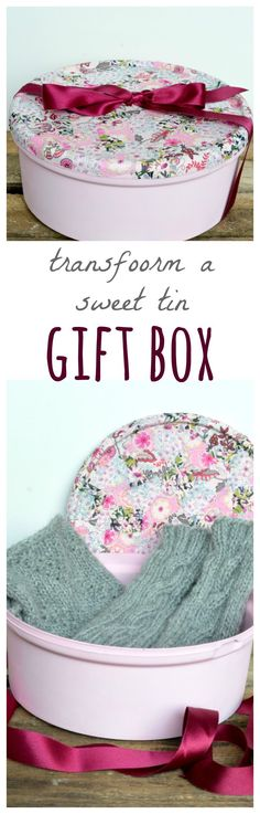 Recycle sweet tins into gorgeous boxes, perfect as DIY gift wrap or as beautiful recycled storage. Click through for DIY step by step tutorial.