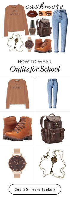 """Old School Cashmere"" by tiny-dancer-morgan on Polyvore featuring Timberland, Lingua Franca, WithChic, Ropin West, Olivia Burton, Tiffany & Co., Lime Crime, OPI and cashmere"