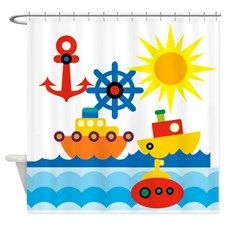 On the Ocean Shower Curtain for