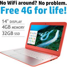 Costco: HP 14-q073cl Chromebook   Intel Celeron   100GB of Google Drive Storage   200MB of free data each month