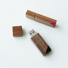Hand-painted Wooden Flash Drive, Bevel (8GB) / @food52
