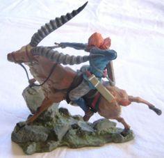 Comica Princess Mononoke Asitaka and Yakul Figure US Seller