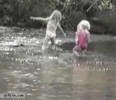 Girl catches big fish