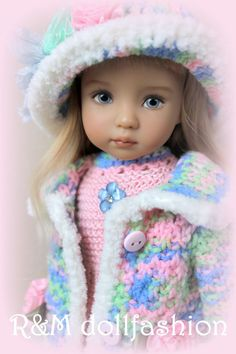 "R&M DOLLFASHION - CUTE LINE OOAK outfit for Effner LITTLE DARLING 13"" doll"