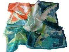 Hand painted silk scarf from Budapest. http://www.silkywaysilk.com