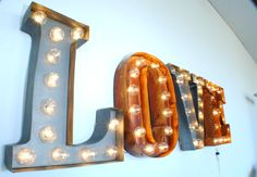 Rocket And Rye Illuminated Carnival Fair Letter Lights UK