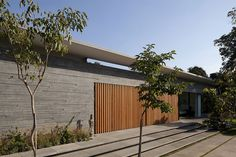 Cool concrete wall texturing.  Float House by Pitsou Kedem Architects