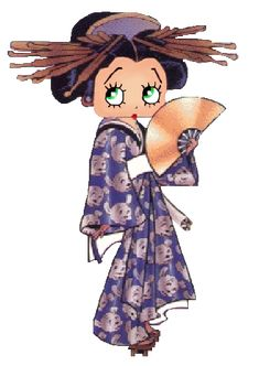 Betty Boop ....geisha try outs!