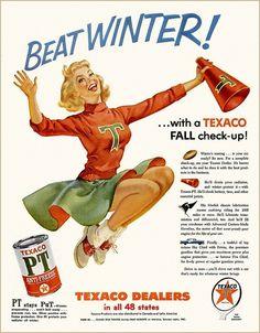 Texaco Cheerleader, 1955   nifty 50's   Pinterest
