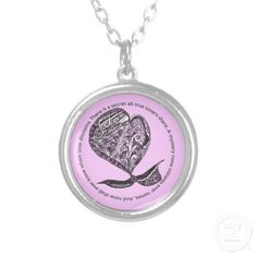 Zentangle Abstract Heart Necklace