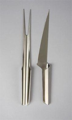 Shark carving set, by Henning Koppel, for Georg Jensen