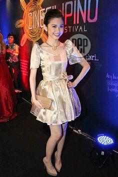 Modern terno Modern Filipiniana Gown, Filipiniana Wedding, Filipina, Peplum Dress, Sari, Gowns, Formal Dresses, Barong, Pinoy