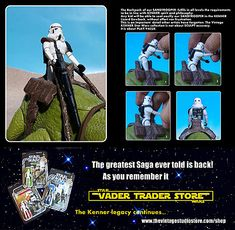 In The Vintage Studio, we put attention to all details and try to honour the true Kenner Spirit. Star Wars Action Figures, Star Wars Toys, Star Wars Collection, Starwars, Trek, Sci Fi, Studio, Vintage, Science Fiction