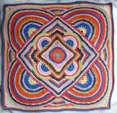 Kitsch and Curious: Colourful Crochet Doodle..... No pattern, sorry....