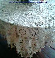 Arte em Crochet: Toalha à moda antiga