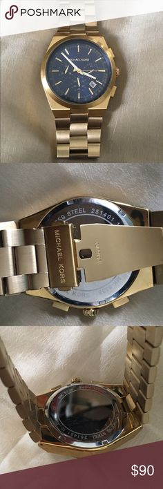 Michael Kors Men's Gold Watch Model MK-8338. In great shape and fully functioning. Stainless steel. Authentic MK. Michael Kors Accessories Watches