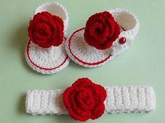 Crochet Baby Girl Crochet - Crosia Free Patttern with Video Tutorials: Baby Crochet Flip Flops Sandal Tutorial Crochet Baby Blanket Beginner, Baby Girl Crochet, Crochet Baby Booties, Crochet Baby Headbands, Blanket Crochet, Baby Knitting Patterns, Baby Patterns, Crochet Patterns, Crochet Sandals Free