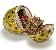 "Faberge Imperial Egg - ""Coronation"", 1897. These eggs are a thing of beauty, meticulously crafted with the utmost care. They were the creation of a man named Peter Karl Fabergé, and because of his beautiful masterpieces, he would become one of most famous goldsmiths of his time."