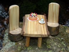 Miniature Fairy Wooden Dollhouse Furniture, via Flickr.