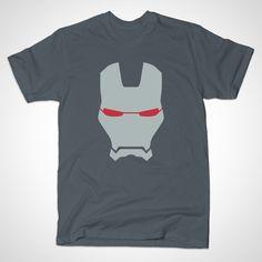 War Machine Helmet by MINIMALISTHEROES - #WarMachine #Marvel #IronMan #TShirt #TeePublic #Shirt #Comics #ComicBooks