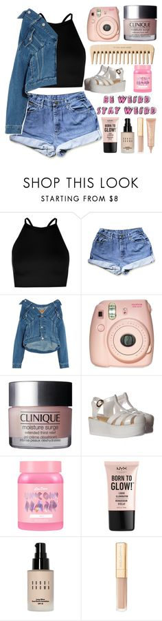 """""""07   be weird, stay weird"""" by takenwithpizza ❤ liked on Polyvore featuring Boohoo, Balenciaga, Fujifilm, The Body Shop, Lime Crime, NYX, Bobbi Brown Cosmetics, Dolce&Gabbana and tarte"""