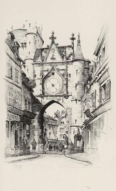 L'Horlage, Auxerre by Samuel Chamberlain