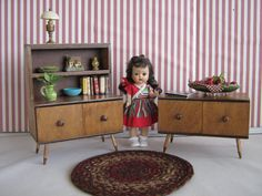 Vintage Doll Furniture   Hall's Mid Century Modern by TheToyBox, $80.00