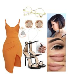 """""""💛💛"""" by msroro12 ❤ liked on Polyvore featuring Pretty Little Thing, Monica Vinader, Gorjana, Giuseppe Zanotti and Jessica Simpson"""