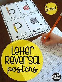 Free Letter Reversal Posters for b, d, p, & q - This Reading Mama