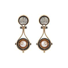 Elie Top Diamond, pearl, silver & gold Pluton earrings (102.335 ARS) ❤ liked on Polyvore featuring jewelry, earrings, gold, silver stud earrings, antique diamond earrings, silver pearl earrings, silver earrings and pearl earrings
