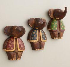 Elephant hook, scost plus, hooks, Painted Elephant Hooks, world market •