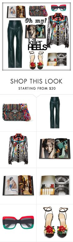 """Oh my!"" by zabead ❤ liked on Polyvore featuring Valentino, Dolce&Gabbana, Assouline Publishing, Gucci and Charlotte Olympia"